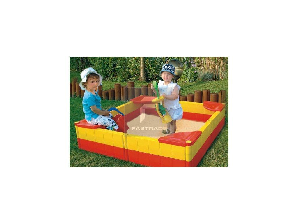 Plastové přenosné  dětské pískoviště s plachtou - BABY BOX