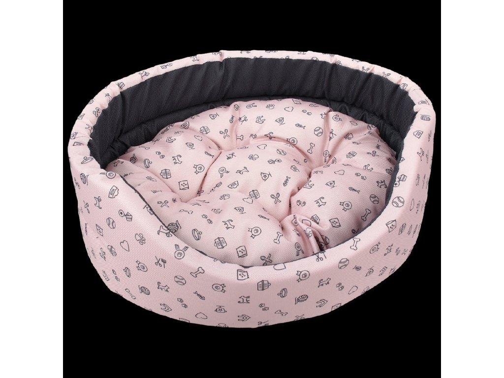 0204150 pelech dog fantasy oval piktogram mix ruzovy 54 cm