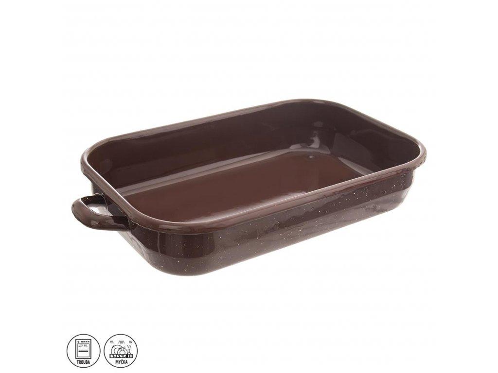 Pekáč smalt BROWN 37,5 x 24,5 cm