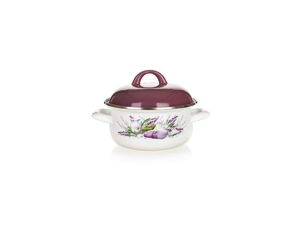 Smaltovaný kastrol Banquet Lavender 22 cm/2,9 l s poklicí