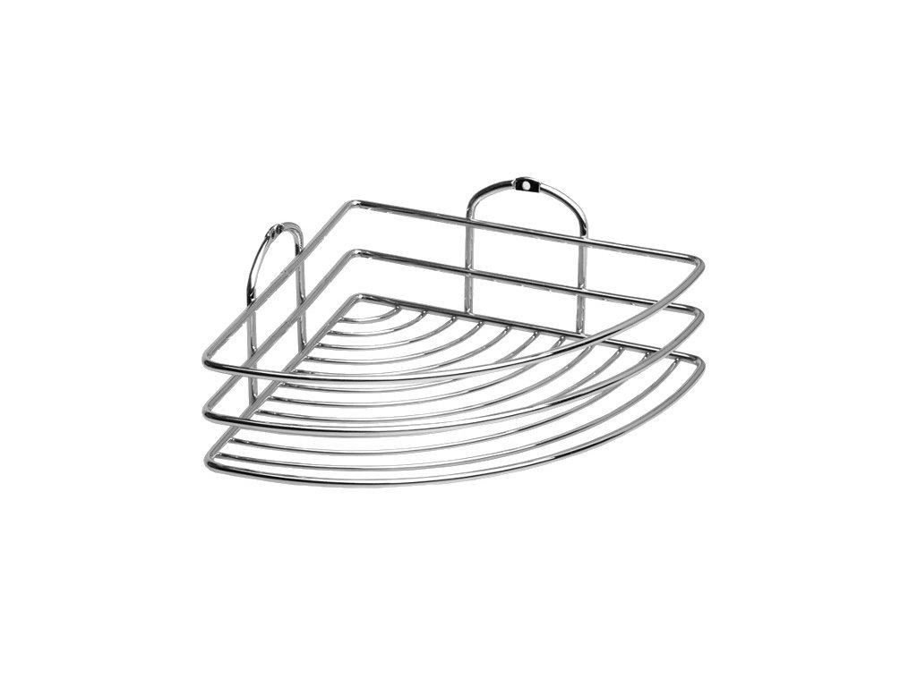 Rohová drátěná polička Multi