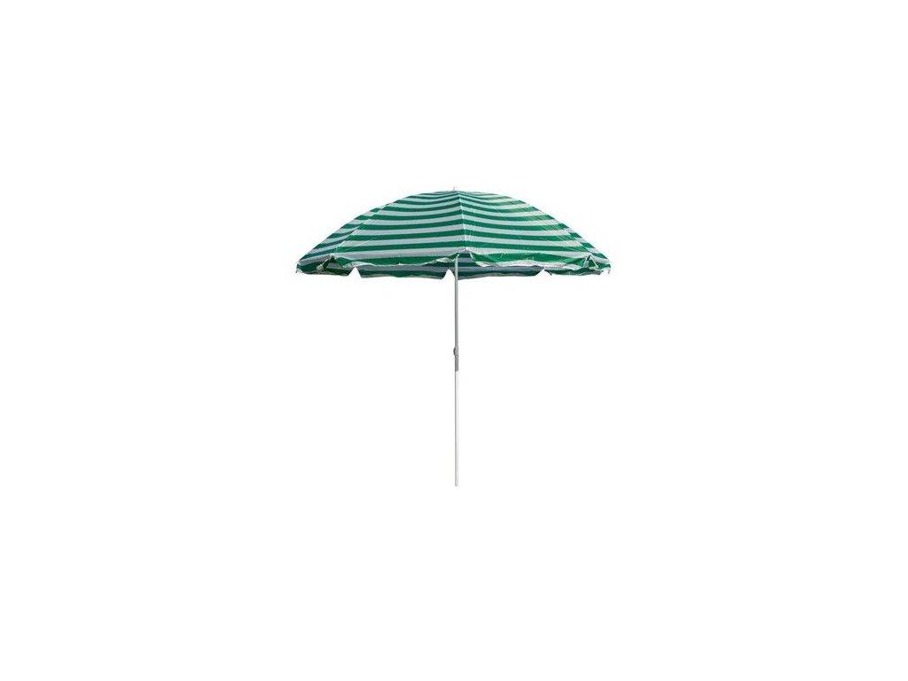 Plážový slunečník Happy Green 230 cm zelené pruhy
