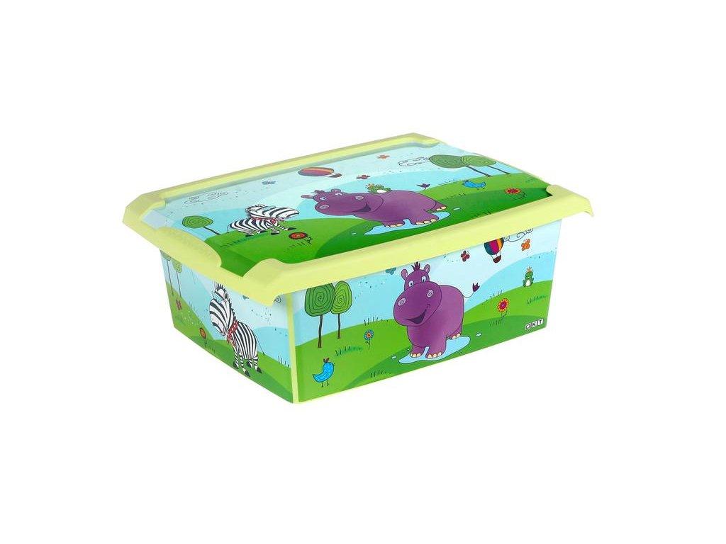 Úložný BOX Hippo 39x29x14 cm - 10l