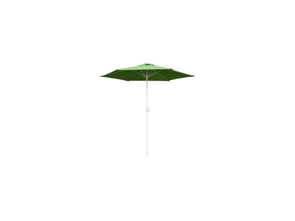 Slunečník s kličkou 230 cm, light green
