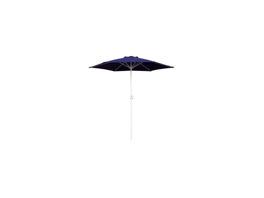 Slunečník s kličkou 230 cm, dark blue