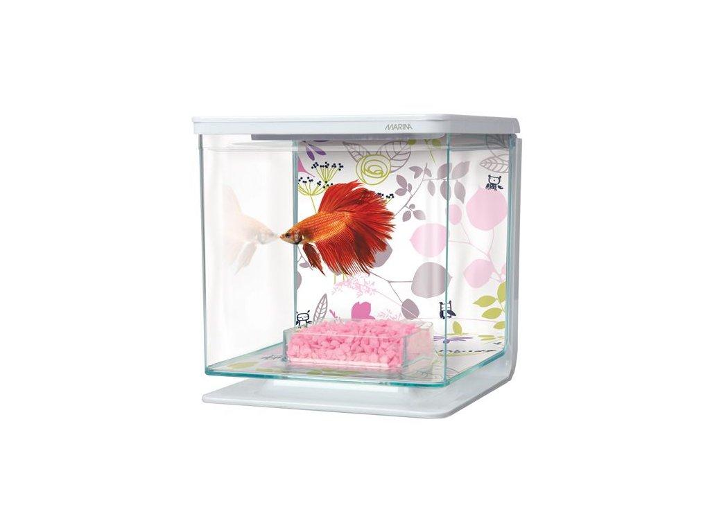 Plastové akvárium Marina Betta Kit Floral 2l