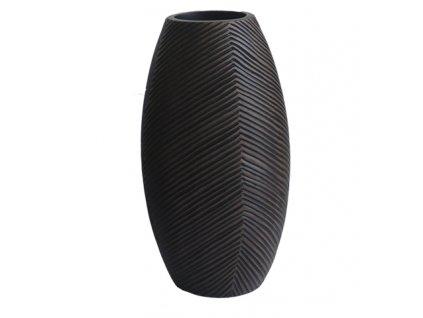 Polyresinová váza tmavá, vzor 35 cm