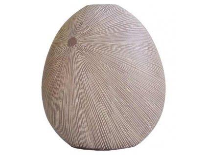 Polyresinová váza Stardeco přírodní 29,5 cm
