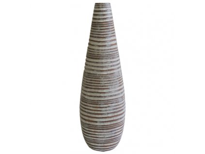 Polyresinová váza přírodní 37,5 cm