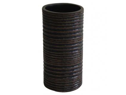 Polyresinová váza tmavá se vzorem 20 cm