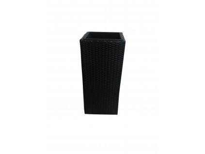 Květináč polyratan Block Design 62 cm černý