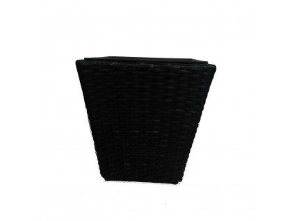 Květináč polyratan Classic Design 30 cm černý