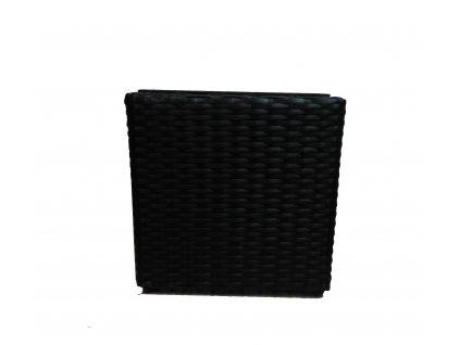 Květináč polyratan Block Design 30 cm černý