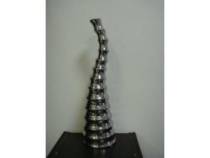 Seehorse - stříbrná designová keramická váza 53 cm