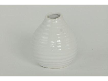 Váza keramická  bílá 11,5 cm