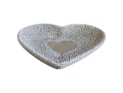 Cementová miska Stardeco se srdcem 18,5 cm