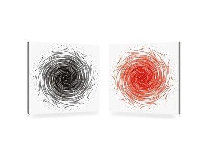 Sada obrazů 2 ks Autronic - červeno-černá abstrakce