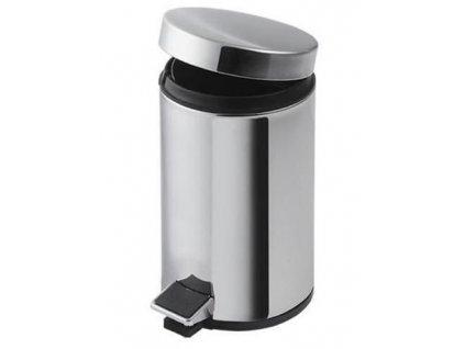 Nerezový odpadkový koš Multi 5 l chromový lesk