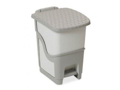 Plastový odpadkový koš 6 l šedý/tmavě šedý ratan