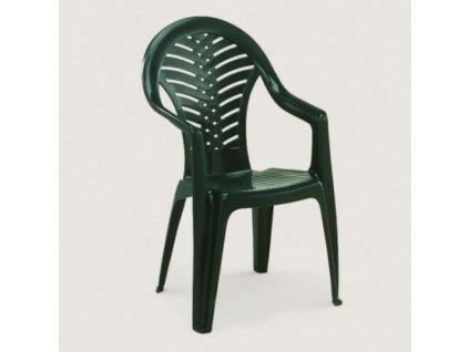 Zahradní plastová židle OCEÁN zelená
