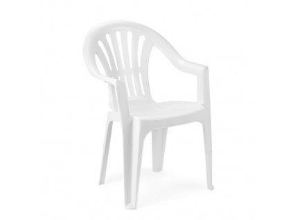 Zahradní plastová židle KONA bílá nízká