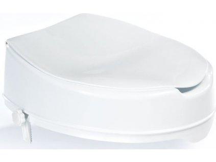 Nástavec na wc mísu s víkem - bílý , 36 × 40 × 10 cm