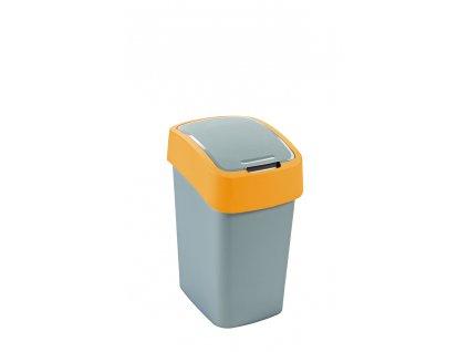 Curver Flipbin odpadkový koš 25 l stříbrná/žlutá