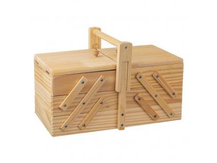 Box dřevěný na šití - rozkládací