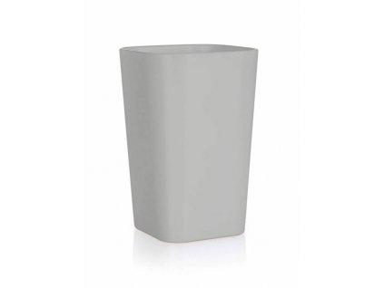 Kelímek na kartáčky 7,3 x 7,3 x 11 cm, šedý