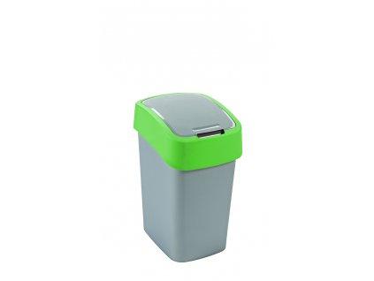 Curver FLIPBIN 10l odpadkový koš šedá/zelená