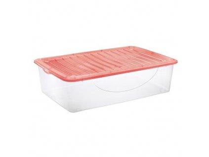 Tontarelli Dodo Stock Box s vikem 27 l transparentnicervena