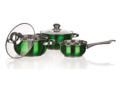Nerezová sada nádobí Banquet Maestro Green - 5 ks