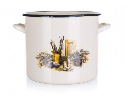 Smaltovaný kastrol Banquet Lavender 18 cm/1,4 l s poklicí