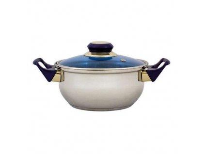 Nerezový hrnec Vetro-Plus 17,5x8,5 cm modrý