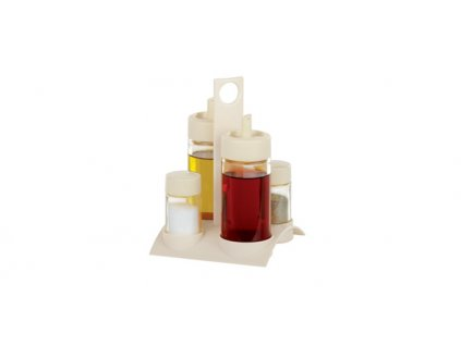 Tescoma souprava olej, ocet, sůl a pepř SOLO, barevný mix
