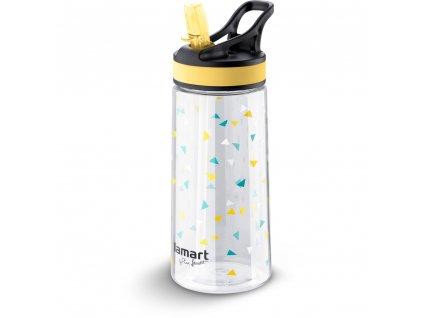 Sportovní láhev s brčkem žlutá  0,5l LAMART - LT4035