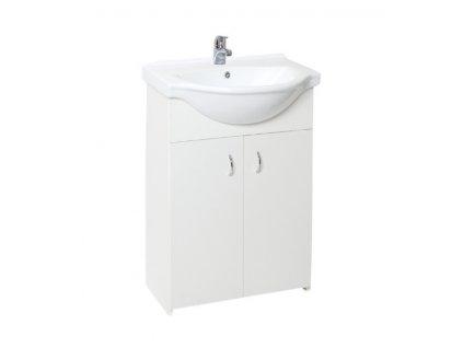Skříňka s umyvadlem Simple 55 cm bílá