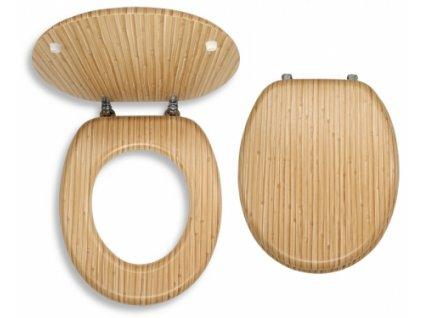WC sedátko dýhované dřevo - Bambus