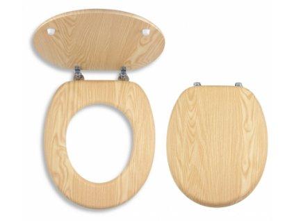 WC sedátko dýhované dřevo - Jasan