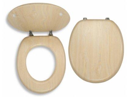 WC sedátko dýhované dřevo - Bříza