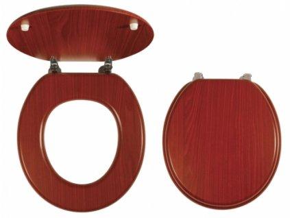 WC sedátko dýhované dřevo - LYRA ořech