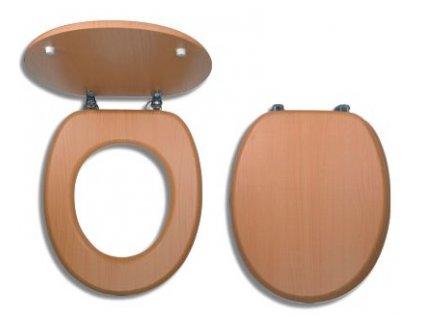 WC sedátko dýhované dřevo - Buk