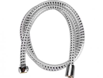 Sprchová hadice stříbrný pruh 150 cm VIKING - PVC