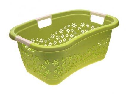 Koš na čisté prádlo zelený 50l