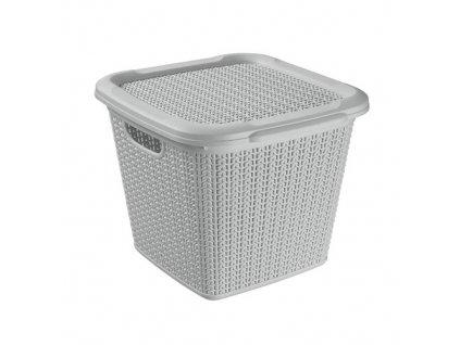 BRILANZ Box ratanový s víkem 15 l, 30 x 30 x 27,5 cm, šedý  zásilkovna 79,-