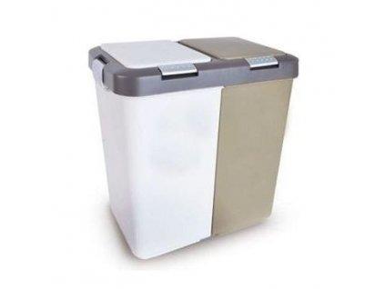Plastový odpadkový koš Orion Duo Dust 2x10 l