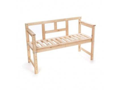 Lavice dřevěná 120 x 45 x 80 cm HAPPY GREEN