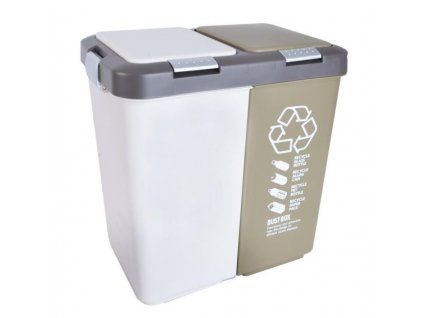 Plastový odpadkový koš Orion Duo Dust 2x20 l