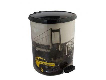 Plastový odpadkový koš 20 l auto na mostě