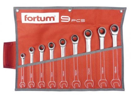 Sada ráčnových očkoplochých klíčů Fortum 9 ks